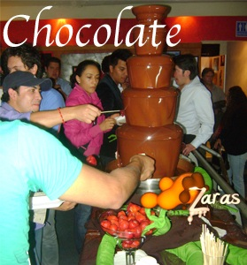 Fuentes de chocolate